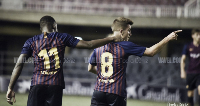 Monchu y Tabla, celebrando un gol | Foto: Noelia Déniz - VAVEL