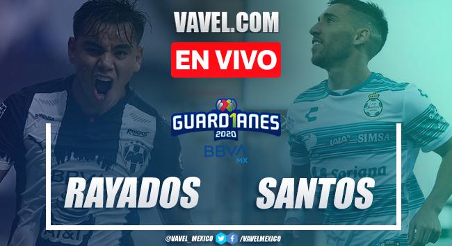 Goles y resumen del Rayados de Monterrey 2-2 Santos Laguna en Liga MX Guard1anes 2020