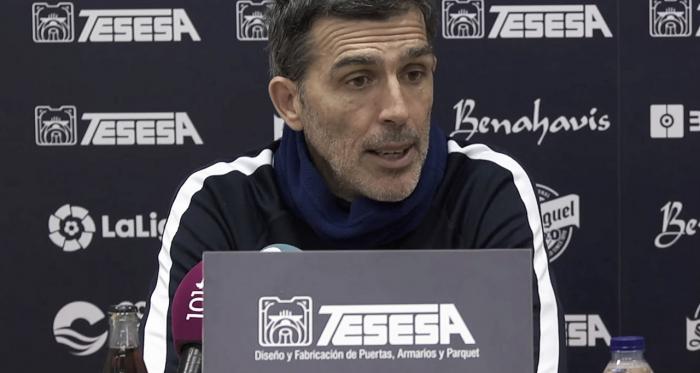 Muñiz durante la rueda de prensa previa al partido Tenerife - Málaga | Foto: MálagaCF