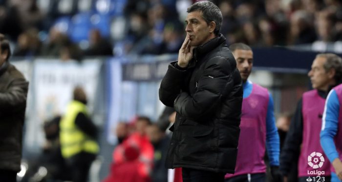 Muñiz durante el Málaga-Reus | LaLiga