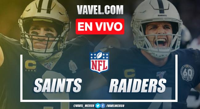 Resumen y anotaciones del New Orleans Saints 24-34 Las Vegas Raiders en NFL 2020