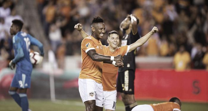 La naranja celebrando la categórica victoria ante los U | Fotografía: Houston Dynamo