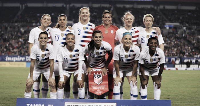 Three changes to the USWNT starting XI against Brazil. (Photo by Mike Ehrmann/Getty Images)