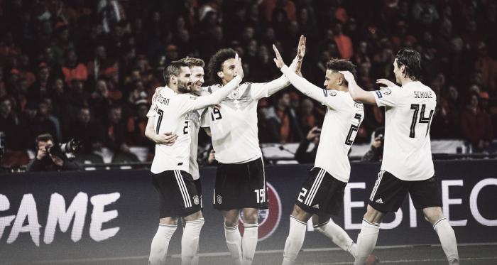 Time alemão venceu a Holanda de virada por 3 a 2 (Foto: DIvulgação/DFB)
