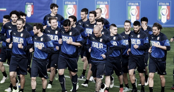 Italy in training during qualification | source: FIFA.com