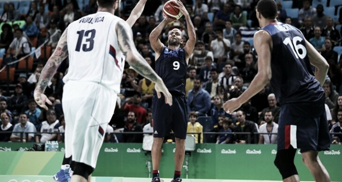 Tony Parker goes up for the game-winning jumper in France's win over Serbia at the Olympics/Photo: FIBA