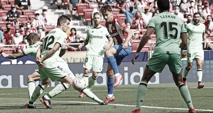 Atlético de Madrid cria pouco e empata com Athletic Bilbao em LaLiga
