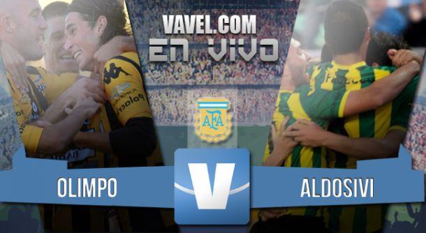 Resultado partido Olimpo - Aldosivi 2015 (3-1)