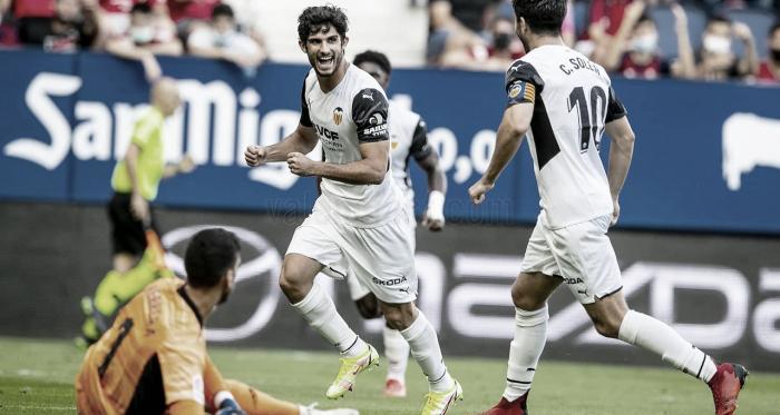 """Gonçalo Guedes brilha em goleada do Valencia e pensa no Real Madrid: """"Temos que manter o foco"""""""