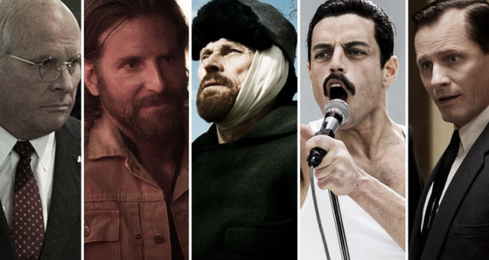 Bale, Cooper, Dafoe, Malek yMortensen son los que compiten este año en la categoría. Fotografía deCinescopia