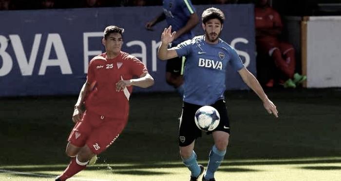 El capitán 'xeneize' en acción ante Los Andes. Foto: Boca Juniors Oficial.