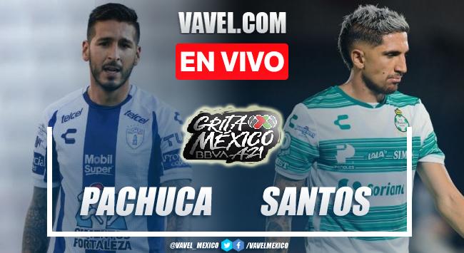 Goles y resumen del Pachuca 1-1 Santos Laguna en Liga MX