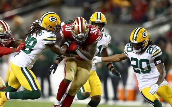 San Francisco is set to take on the Green Bay Packers at home on Sunday Night in a battle for the NFC Championship. San Francisco comes in as the heavy betting favorites, but Green Bay will need to rely on all facets of the game to steal a victory. (Getty Images)