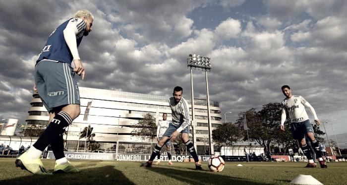 Felipão comandou treino em Assunção na tarde desta quarta-feira (08) (Cesar Greco/Ag Palmeiras/Divulgação)