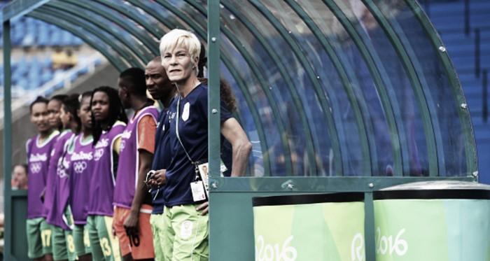 Vera Pauw coaching at the 2016 Olympics. | Source: Stuart Franklin - FIFA