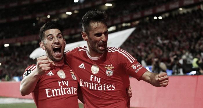 Jonas e Pizzi foram dois dos autores dos tentos da noite // Foto: Facebook do SL Benfica
