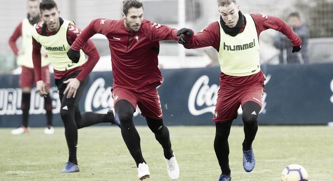 Los jugadores de Osasuna en el entrenamiento. Foto: Osasuna