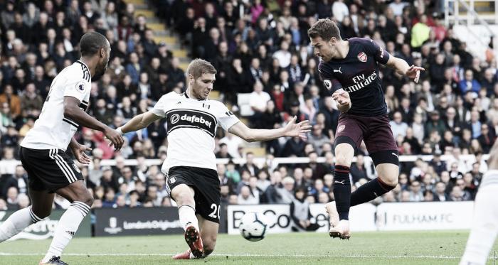 Ramsey anota en el partido ante el Fulham | Fotografía: Arsenal