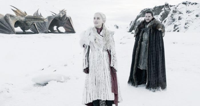 Daenerys y Jon Nieve en el capítulo 8x01 Fuente: Cuenta Oficial de Twitter (@gameofthrones)