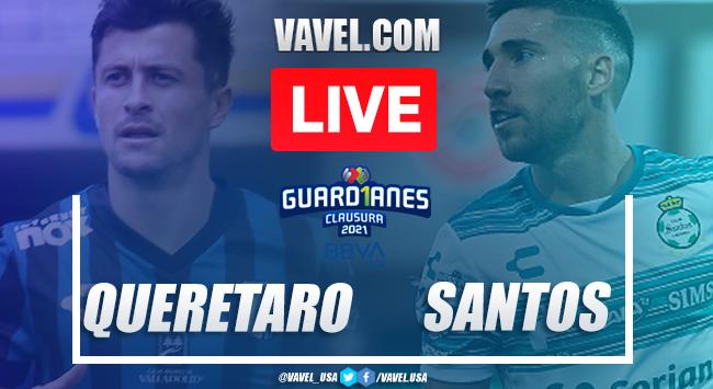 Goals and Highlights of Queretaro 1-0 Santos on Guard1anes 2021