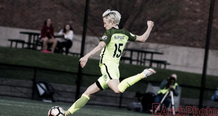 Megan Rapinoe is one of four original members of the Seattle Reign who are ready to start a new season   Source: E. Sbranna - EarchPhoto