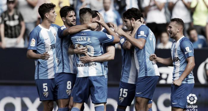 El Málaga sigue líder en solitario tras vencer al Rayo Majadahonda