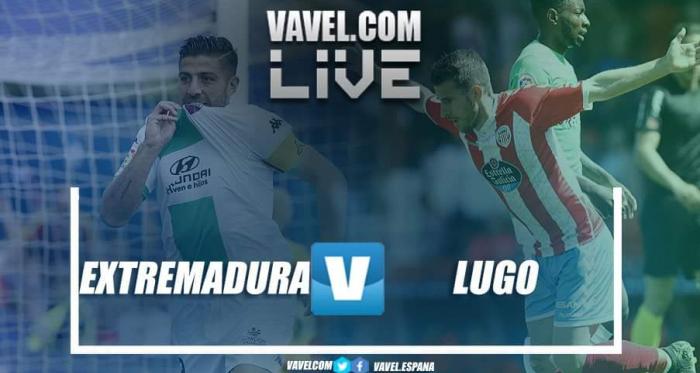 Extremadura vs Lugo en vivo y en directo online en LaLiga 1|2|3 2019 // Fotomontaje VAVEL