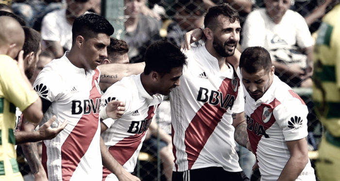 River festeja en la Superliga / Foto: @Carpoficial