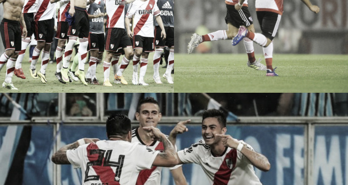 Cruzeiro (2015), Jorge Wilstermann (2017) y Gremio (2018), las remontadas más inolvidables de la era Gallardo en River (Fotomontaje Adrián Gallardo)