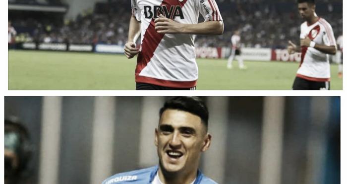 Fernández(arriba) puede abandonar el Millonario y Suárez puede arribar al Monumental. Foto: Nicolás Castillo-Vavel Argentina