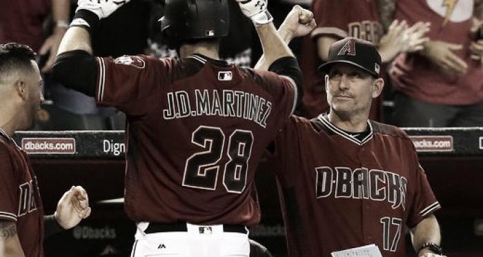 Robbie Ray fans 12; Martinez and Goldschmidt homer in Arizona Diamondbacks win