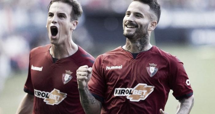 Rubén celebrando el gol junto a Iñigo // Fuente: LaLiga