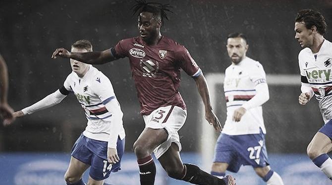 Torino empata com Sampdoria em casa e segue na zona de rebaixamento