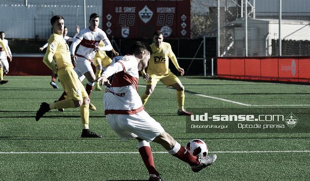 El Sanse, en su último partido en casa (Foto: ud-sanse.com Deborah Iraurgui)