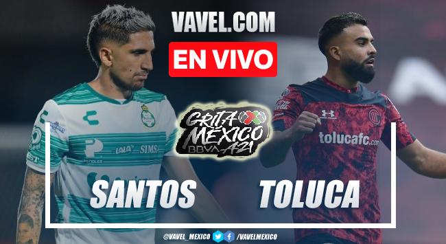 Goles y resumen del Santos Laguna 2-2 Toluca en Liga MX