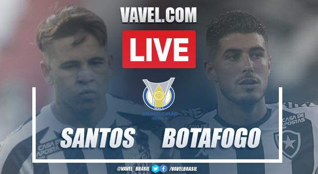 Gols e melhores momentos de Santos 2 x 1 Botafogo pelo Campeonato Brasileiro