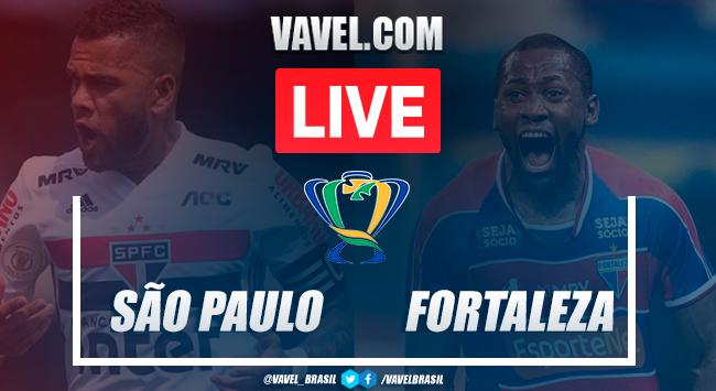 São Paulo x Fortaleza AO VIVO: onde assistir ao jogo em tempo real na Copa do Brasil