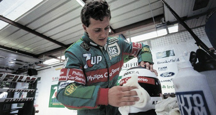 Michael Schumacher prepares for his race debut, 25 years ago. (Image Credit: rmgs-team.wbl.sk)