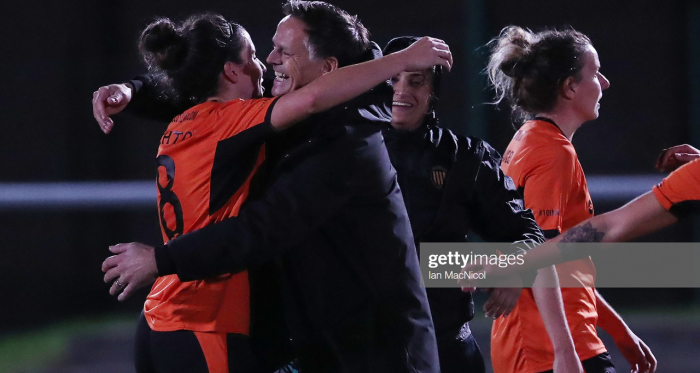 A successful re-start for SWPL1 league leaders, Glasgow City(Photo by Ian MacNicol/Getty Images)