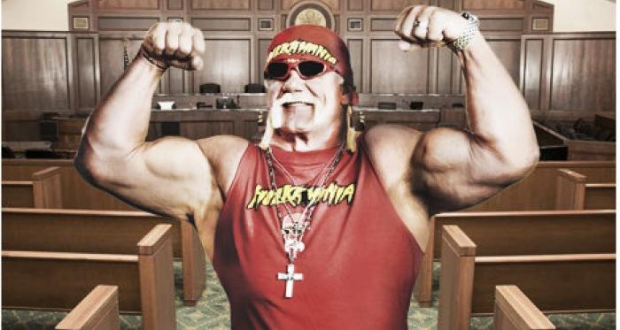 Hulk Hogan in court mock up (image: Joel Lampkin)