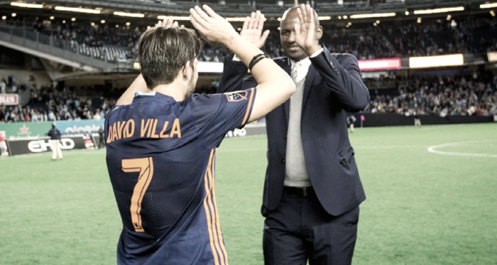 David Villa and Patrick Vieira. | Photo: New York City FC