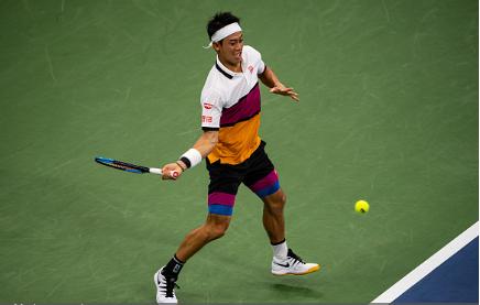 Nishikori is seeking his sixth consecutive Grand Slam quarterfinal (Image source: Zimbio/TPN/Getty Images)