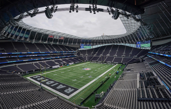 The NFL will play their first game at the Tottenham Hotspur Stadium this weekend (Photo: NFL)