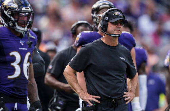 John Harbaugh will be looking for a big performance from his team on Sunday (Photo: Scott Taetsch)