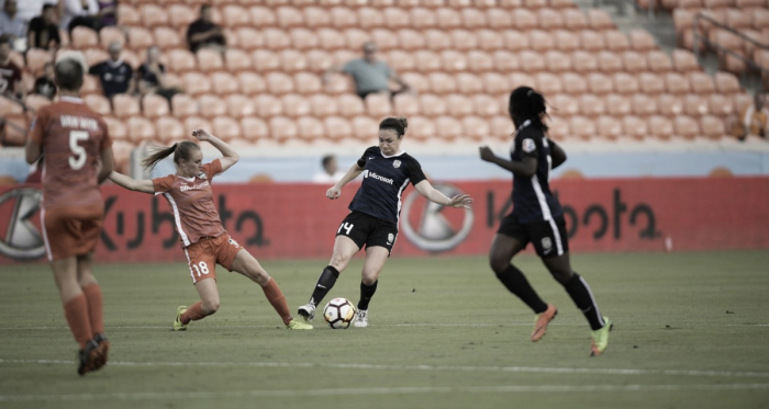 Jodie Taylor with the Seattle Reign on Wednesday May 23, 2018 at BBVA Compass Stadium in Houston, TX | Photo: Seattle Reign