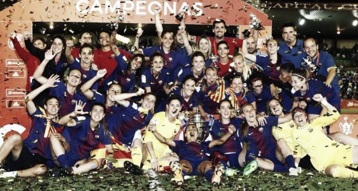 El FC Barcelona celebra la consecución de la Copa de la Reina   Foto: FC Barcelona