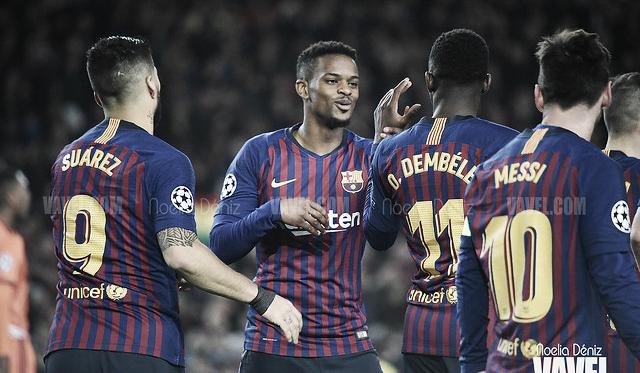 Los jugadores del FC Barcelona celebrando un gol. FOTO: Noelia Déniz