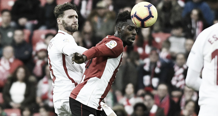 Sergi Gómez en San Mamés el pasado domingo| Foto: Sevilla FC