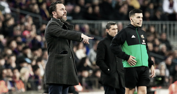 Sergio González durante el encuentro ante el FC Barcelona | Real Valladolid