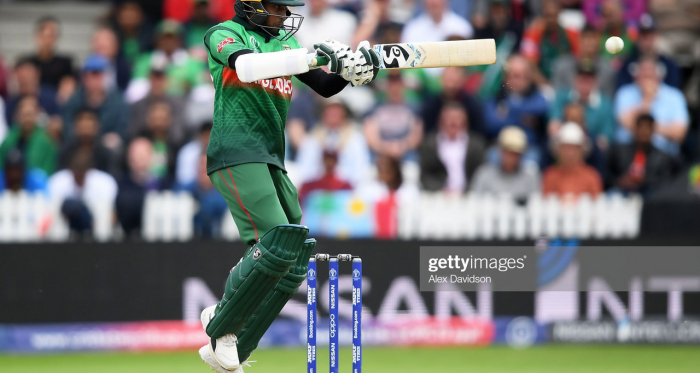 Shakib made his way to 124 as he comfortably dealt with the West Indies short deliveries (photo: Getty Images)